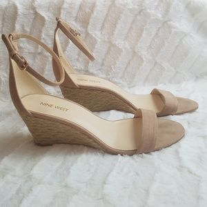Nine West Open Toe Wedge Espidrilles Heel Sandals